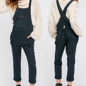 Free People Lost Boy Linen Overalls Small